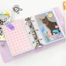 Violet - 2NUL Glitter 3 ring Instax mini slip in pocket photo album