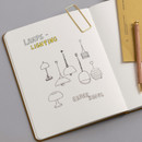 Usage example - Byfulldesign Making memory small and wide blank notebook