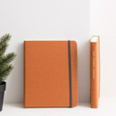 Pumpkin orange - Byfulldesign Making memory small and wide blank notebook
