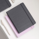 Dark Gray - Byfulldesign Making memory small and wide blank notebook