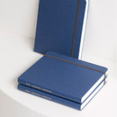 Evening blue - Byfulldesign Making memory small and wide blank notebook
