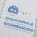 Usage example - Meri Film Blue ocean masking tape