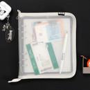 Milky Ivory - 2NUL Cherry pick wide A6 6-ring PVC zipper binder
