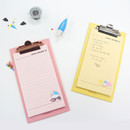 DESIGN IVY Ggo deung o clipboard with lined notepad