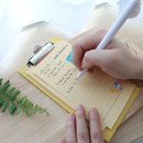 Usage example - DESIGN IVY Ggo deung o clipboard with lined notepad