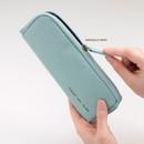 Emerald mint - Byfulldesign Oxford double zipper pencil case ver5