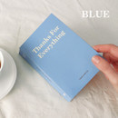 Blue - Indigo 365 days dateless gratitude daily journal