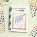 Usage example - Indigo Gold line PVC removable sticker