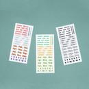 Indigo Months of the year PET clear sticker