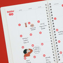 Usage example - Indigo 31 days paper circle sticker