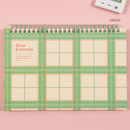 Green - Ardium Slow and steady 4 months dateless study planner