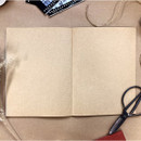 Kraft blank paper - O-CHECK Le cahier classic large lined and plain notebook