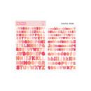 Pastel Red - Bookfriends Colorful Alphabet translucent sticker set