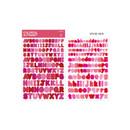 Vivid Red - Bookfriends Colorful Alphabet translucent sticker set