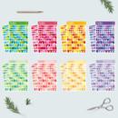 Bookfriends Colorful Alphabet translucent sticker set