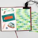 Usage example - Bookfriends Colorful Alphabet translucent sticker set