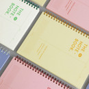 ICONIC Vertically half divided wire bound A5 grid notebook