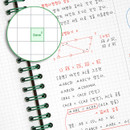 3 mm gird paper - Usage example - ICONIC Vertically half divided wire bound A5 grid notebook
