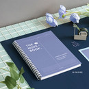16 Pale iris - ICONIC Vertically half divided wire bound A5 grid notebook