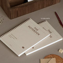12 Cafe Latte - ICONIC Compact wire bound A5 hardcover lined notebook