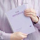 10 Lavender - ICONIC Compact wire bound A5 hardcover lined notebook