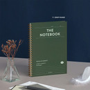 11 Deep Khaki - ICONIC Compact wire bound A5 hardcover lined notebook