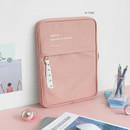 Pink - ICONIC Cottony 13 inches laptop zipper sleeve case