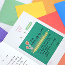 Usage example - Indigo Colorful decorative paper sticker pack 50 sheets