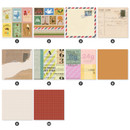 Detail of Indigo Vintage decorative paper sticker pack 50 sheets