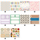 Detail of Indigo Point deco decorative paper sticker pack 50 sheets