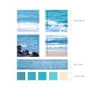 Size - Meri Film Ocean color chips translucent sticker set
