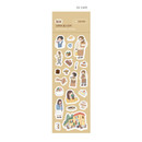 03 Cafe - Indigo Daily life removable sticker seal 1-10