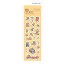 06 PoPo day - Indigo Daily life removable sticker seal 1-10