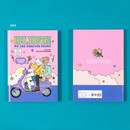 Bike - Ardium Color point lined notebook ver2 with PVC cover