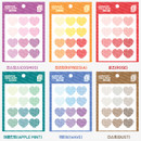 Wanna This Heart check large deco sticker set of 3 sheets