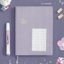 Lavender - ICONIC Bubbly dateless weekly diary planner