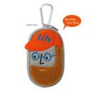 Beard man - Antenna Shop Boucle AirPods zipper case bag with key clip
