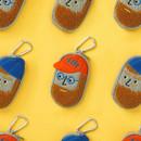 Antenna Shop Boucle AirPods zipper case bag with key clip