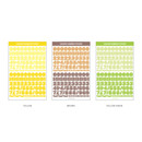 Number - Wanna This Square Alphabet Number paper sticker set