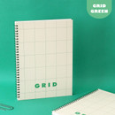 Grid green - Indigo Basic B5 wire binding grid notebook