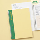 Grid Yellow - Indigo Basic B5 wire binding grid notebook