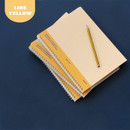 Lined Yellow - Indigo Basic B5 sprial binding lined notebook