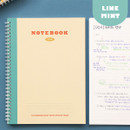 Lined Mint - Indigo Basic B5 sprial binding lined notebook