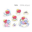 TATA - BT21 Dream baby clear sticker flake pack