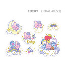 COOKY - BT21 Dream baby clear sticker flake pack
