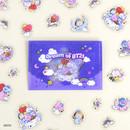 BT21 Dream baby clear sticker flake pack