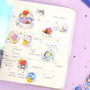 Usage example - BT21 Dream baby clear sticker flake pack