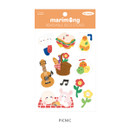 Picnic - Flying Whales Marimong removable paper sticker