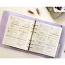Usage example - Jam Studio Daily checklist wide A6 6 ring paper refill set