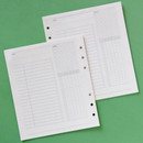 Jam Studio Study planner wide A6 6 ring paper refill set